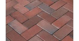 Брусчатка тротуарная клинкерная Penter Rotblaubunt, 200x100x71 мм фото