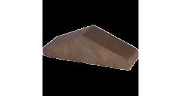 Перекрытие забора Lode Brunis коричневый, 310*100*88 мм фото