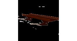 Переходной мостик BORGE RAL 8017 для композитной черепицы, коричневый, 1,5 м фото