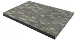 Тротуарная плитка BRAER Паркет Color Mix Туман, 200*50*60 мм фото
