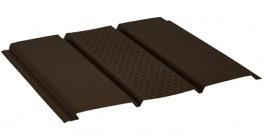 Софит с центральной перфорацией AQUASYSTEM темно-коричневый (RR32), 2,4*0,303 м фото