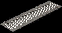 Решетка водоприемная Gidrolica Standart РВ-10.13,6.100 кл. В125 оцинкованная, 1000*136*20 мм фото