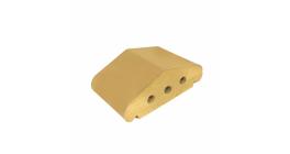 Перекрытие забора ZG Klinker желтый, 170*110*65 мм фото