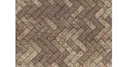 Тротуарная плитка ВЫБОР Паркет Листопад гранит Хаски, Б.4.П.6 фото