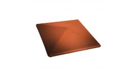Клинкерный колпак для забора Lode Aquarius малый, 445*445*90 мм фото