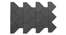 Тротуарная плитка BRAER Тиара серый, 283*200*60 мм фото