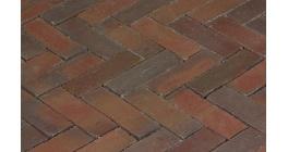 Клинкерная тротуарная брусчатка ручной формовки Penter Novoton wasserstrich, 200х65х85 мм фото