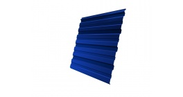 Профнастил фигурный Гранд Лайн (Grand Line) C10, 0,45 PE, сигнальный синий фото