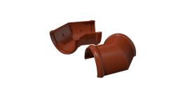 Угол желоба ТехноНИКОЛЬ (Verat) коричневый 135 град., D 125 мм фото