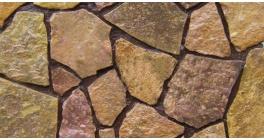 Известняк рваный край персиковый, 50-70 мм фото