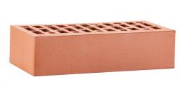 Кирпич керамический облицовочный пустотелый ЛСР Красный гладкий 250*120*65 мм фото