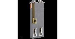 Комплект дымохода SCHIEDEL UNI двухходовой без вентканала 4 п.м, 32*59 см, D 14-16 см фото