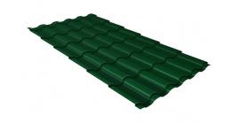Металлочерепица Гранд Лайн Kredo Satin 0.5 RAL 6005 зеленый мох фото