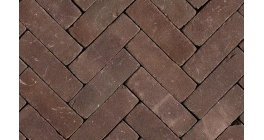 Клинкерная тротуарная брусчатка ручной формовки Penter Violetta tumbled, 200х65х85 мм фото