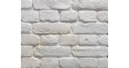 Искусственный камень Балтфасад Старый кирпич белый 255×70, 120×70 мм фото