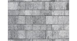Тротуарная плитка ВЫБОР Паркет Листопад гранит Антрацит, Б.9.Псм.8 фото