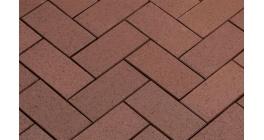 Брусчатка тротуарная клинкерная Penter Baltic Braun, 200x100x45 мм фото
