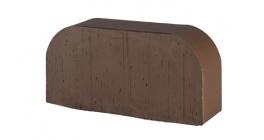 Кирпич керамический облицовочный радиусный полнотелый Lode Brunis F14 гладкий 250*120*65 мм фото