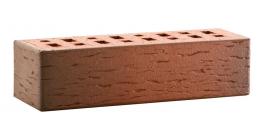 Кирпич клинкерный облицовочный пустотелый ЛСР Ноттингем красный флэшинг береста 250*85*65 мм фото