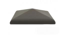 Колпак для забора ZG Clinker C38 графит 380*380 фото
