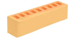Кирпич керамический облицовочный пустотелый Голицынский КЗ Янтарь желтый гладкий 250*60*65 мм фото