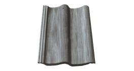 Цементно-песчаная черепица рядовая Sea Wave антик серый фото