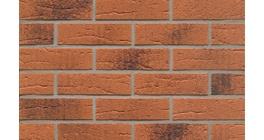 Фасадная плитка клинкерная Feldhaus Klinker R228 Terracotta rustico carbo рельефная NF9, 240*9*71 мм фото