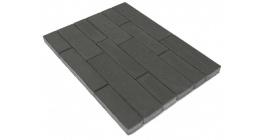 Тротуарная плитка BRAER Домино Серый, 120/160*60 мм фото