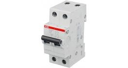 Автоматический выключатель ABB SH202L двухполюсный 6А тип B 4.5кА фото