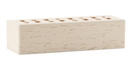 Кирпич клинкерный облицовочный пустотелый ЛСР Неаполь белоснежный береста 250*85*65 мм фото