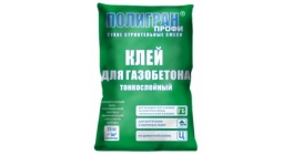 Клей для газобетона Полигран Профи 25 кг фото