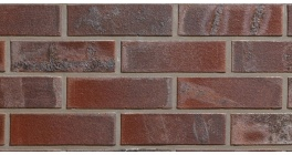 Кирпич клинкерный облицовочный пустотелый ABC 0104 Brandenburg rot-bunt гладкий 240*90*71 мм фото