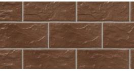 Цокольная плитка клинкерная Stroher Kerabig KS 13 tabakbraun рельефная, 302*148*12 мм фото