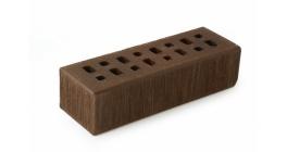 Кирпич клинкерный облицовочный пустотелый ЛСР Мюнхен коричневый тростник 250*85*65 мм фото