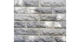 Искусственный камень Балтфасад кирпич Колотый серый 248х62 мм фото